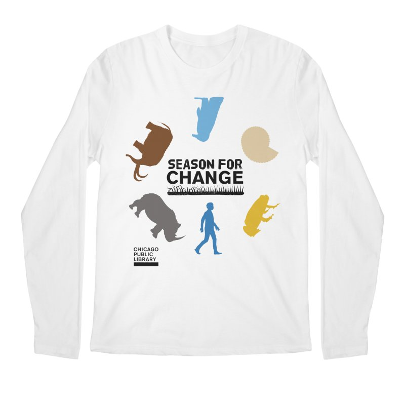 One Book, One Chicago 2019 Season of Change Roundabout Black Men's Regular Longsleeve T-Shirt by Chicago Public Library Artist Shop