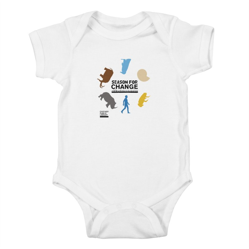 One Book, One Chicago 2019 Season of Change Roundabout Black Kids Baby Bodysuit by Chicago Public Library Artist Shop