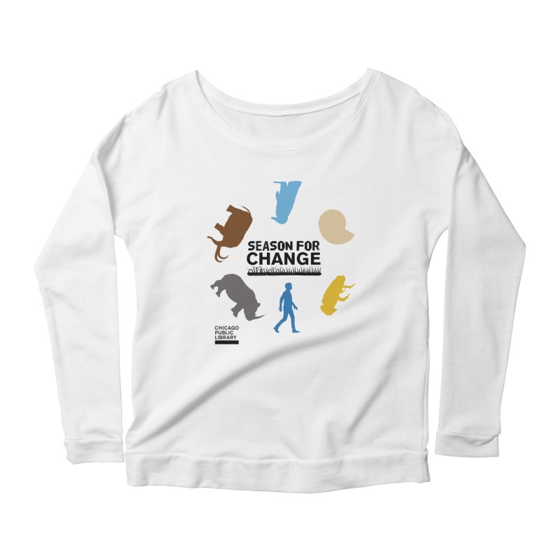 One Book, One Chicago 2019 Season of Change Roundabout Black Women's Scoop Neck Longsleeve T-Shirt by Chicago Public Library Artist Shop