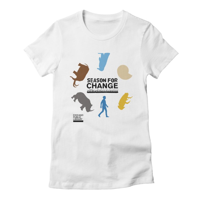 One Book, One Chicago 2019 Season of Change Roundabout Black Women's Fitted T-Shirt by Chicago Public Library Artist Shop