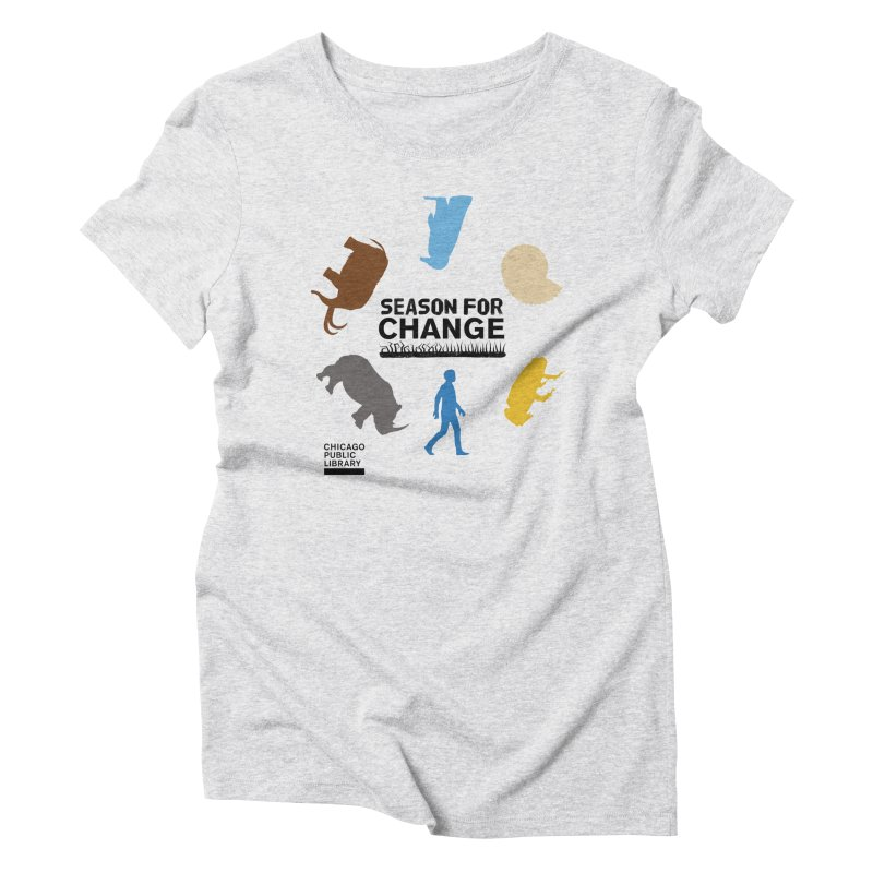 One Book, One Chicago 2019 Season of Change Roundabout Black Women's Triblend T-Shirt by Chicago Public Library Artist Shop