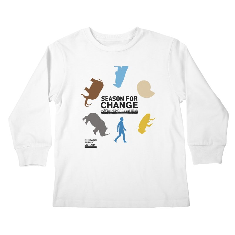 One Book, One Chicago 2019 Season of Change Roundabout Black Kids Longsleeve T-Shirt by Chicago Public Library Artist Shop