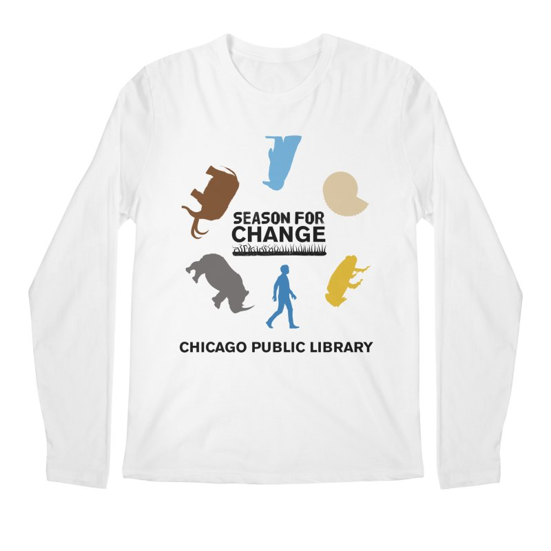 One Book, One Chicago 2019 Season of Change Roundabout Black Text Men's Regular Longsleeve T-Shirt by Chicago Public Library Artist Shop