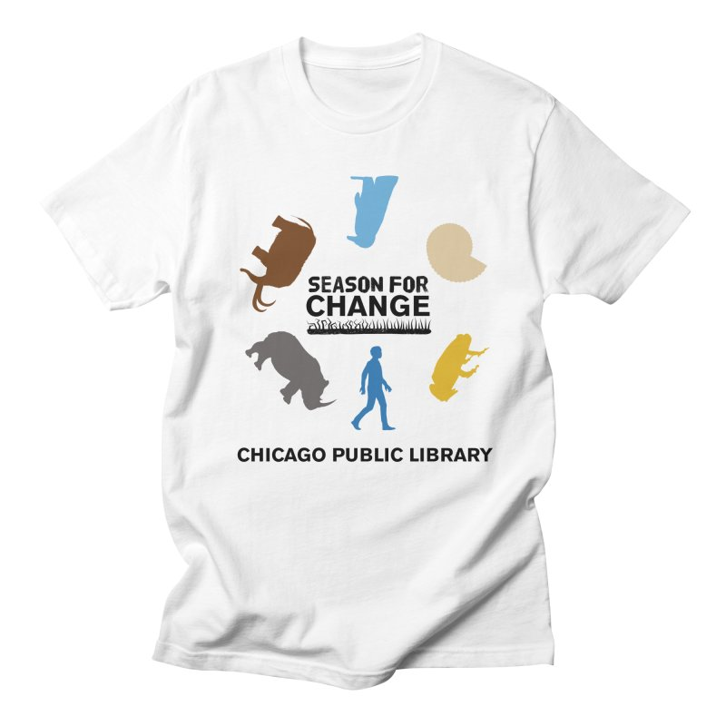 One Book, One Chicago 2019 Season of Change Roundabout Black Text Men's Regular T-Shirt by Chicago Public Library Artist Shop