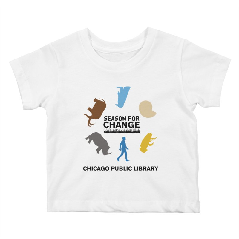 One Book, One Chicago 2019 Season of Change Roundabout Black Text Kids Baby T-Shirt by Chicago Public Library Artist Shop