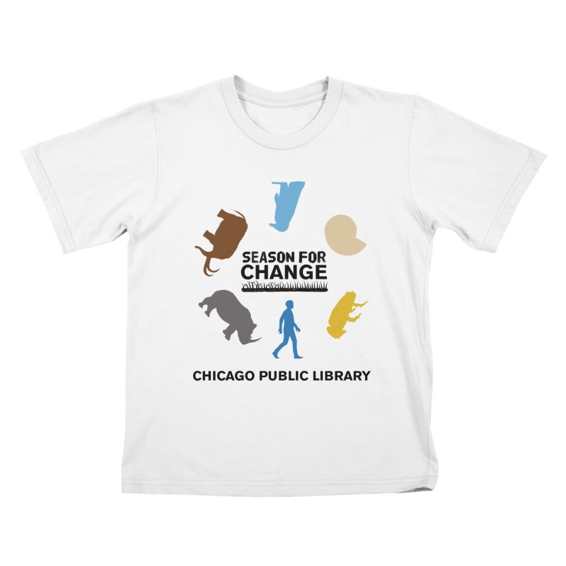 One Book, One Chicago 2019 Season of Change Roundabout Black Text Kids T-Shirt by Chicago Public Library Artist Shop