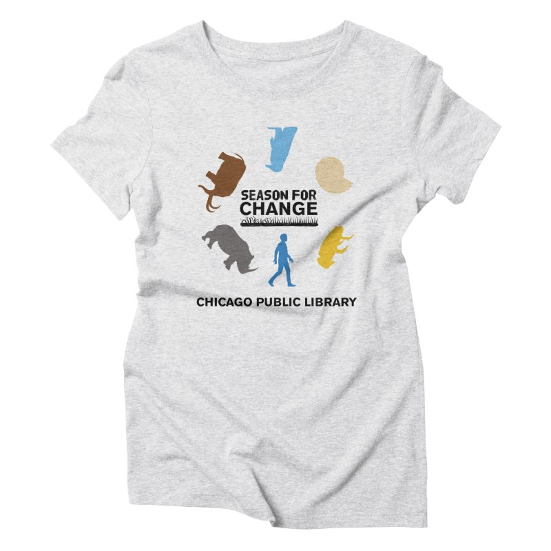 One Book, One Chicago 2019 Season of Change Roundabout Black Text Women's Triblend T-Shirt by Chicago Public Library Artist Shop