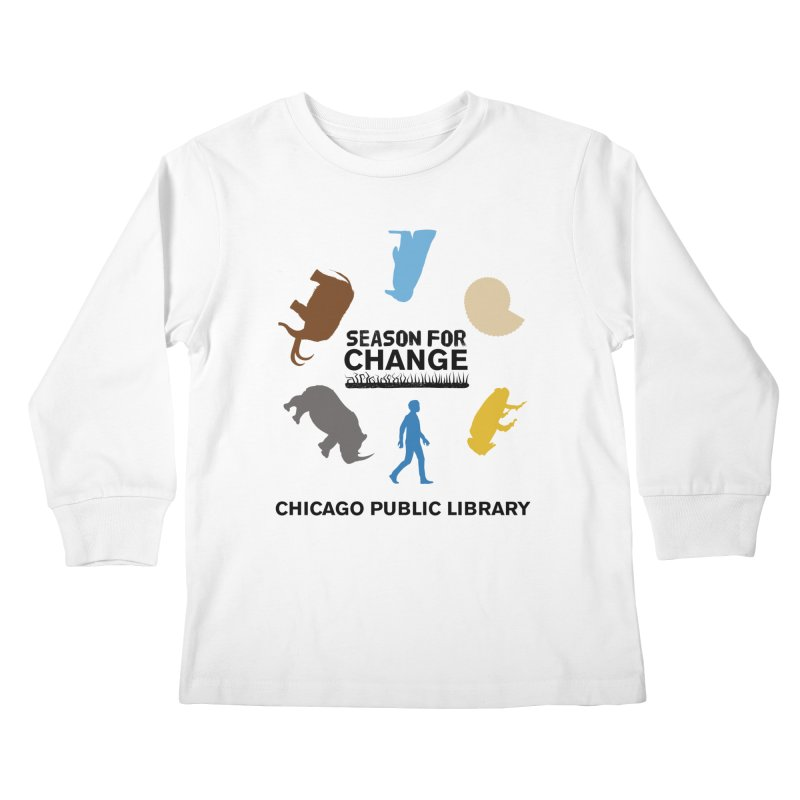 One Book, One Chicago 2019 Season of Change Roundabout Black Text Kids Longsleeve T-Shirt by Chicago Public Library Artist Shop