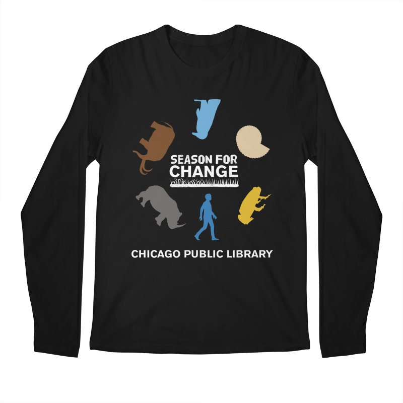 One Book, One Chicago 2019 Season of Change Roundabout White Men's Regular Longsleeve T-Shirt by Chicago Public Library Artist Shop