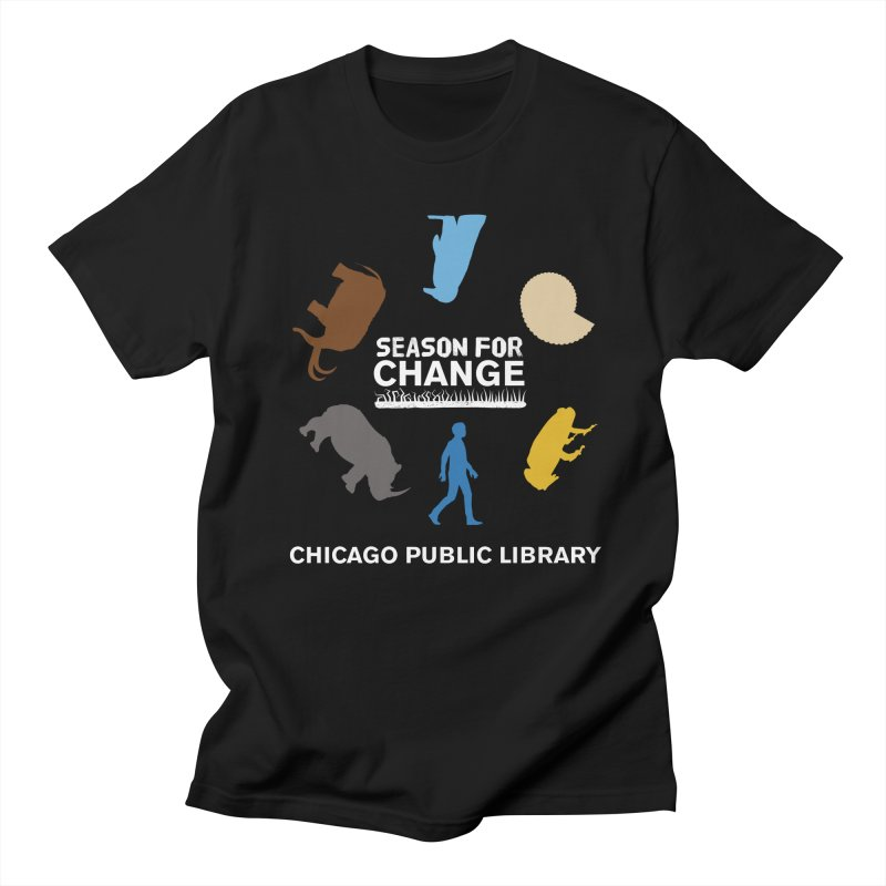 One Book, One Chicago 2019 Season of Change Roundabout White Men's Regular T-Shirt by Chicago Public Library Artist Shop