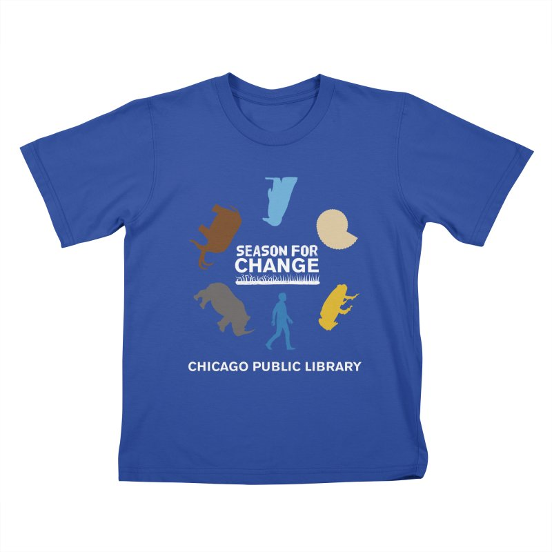 One Book, One Chicago 2019 Season of Change Roundabout White Kids T-Shirt by Chicago Public Library Artist Shop