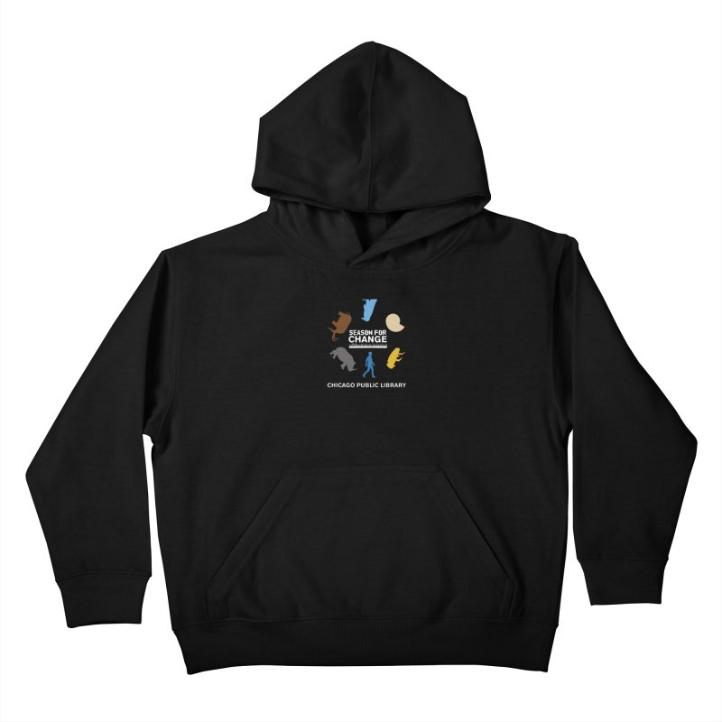 One Book, One Chicago 2019 Season of Change Roundabout White Kids Pullover Hoody by Chicago Public Library Artist Shop