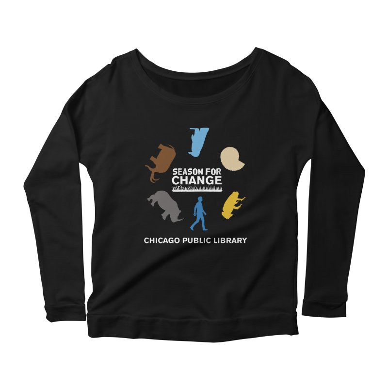 One Book, One Chicago 2019 Season of Change Roundabout White Women's Scoop Neck Longsleeve T-Shirt by Chicago Public Library Artist Shop