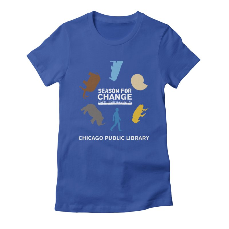 One Book, One Chicago 2019 Season of Change Roundabout White Women's Fitted T-Shirt by Chicago Public Library Artist Shop