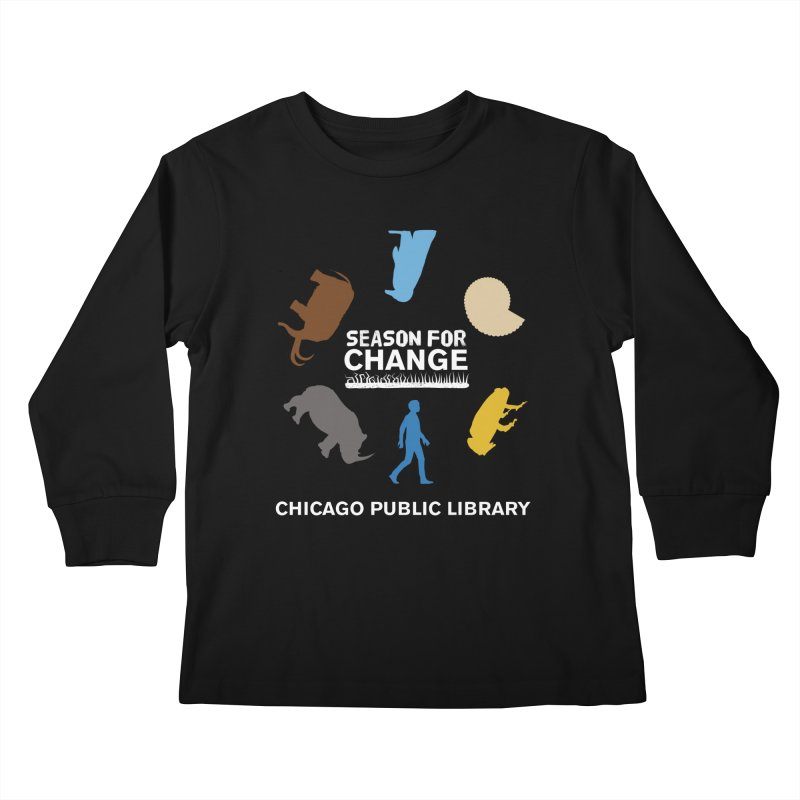 One Book, One Chicago 2019 Season of Change Roundabout White Kids Longsleeve T-Shirt by Chicago Public Library Artist Shop
