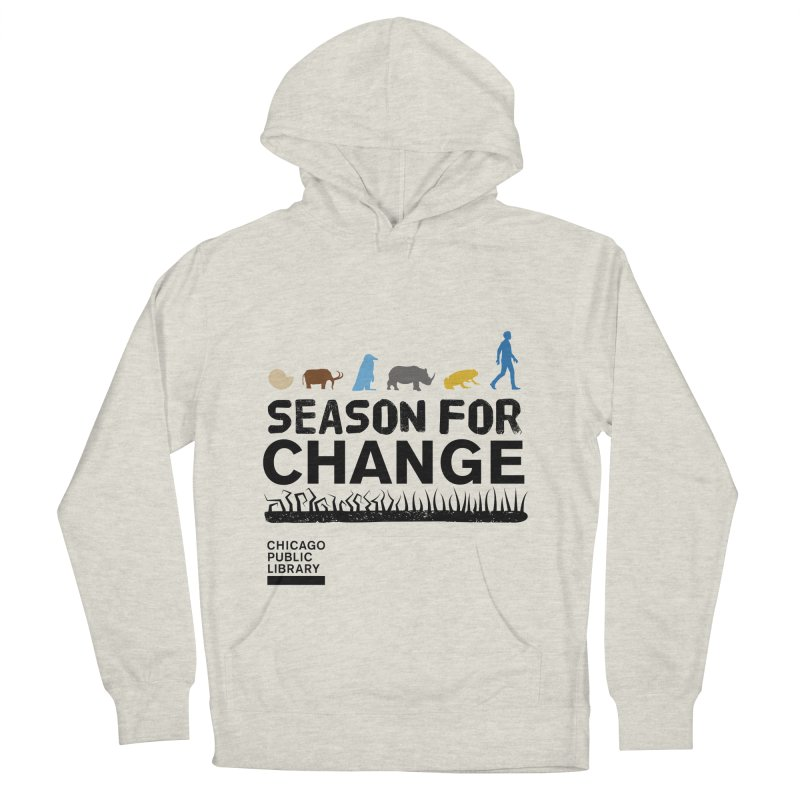 One Book, One Chicago 2019 Season of Change Black Men's French Terry Pullover Hoody by Chicago Public Library Artist Shop