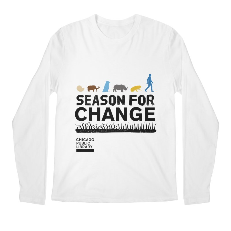 One Book, One Chicago 2019 Season of Change Black Men's Regular Longsleeve T-Shirt by Chicago Public Library Artist Shop