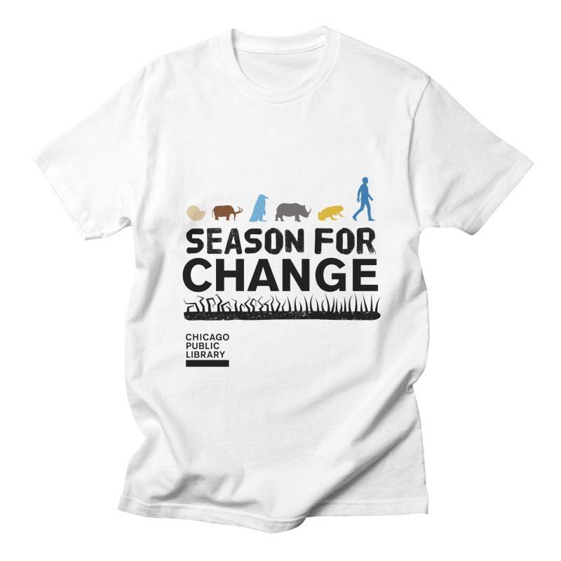 One Book, One Chicago 2019 Season of Change Black Men's Regular T-Shirt by Chicago Public Library Artist Shop