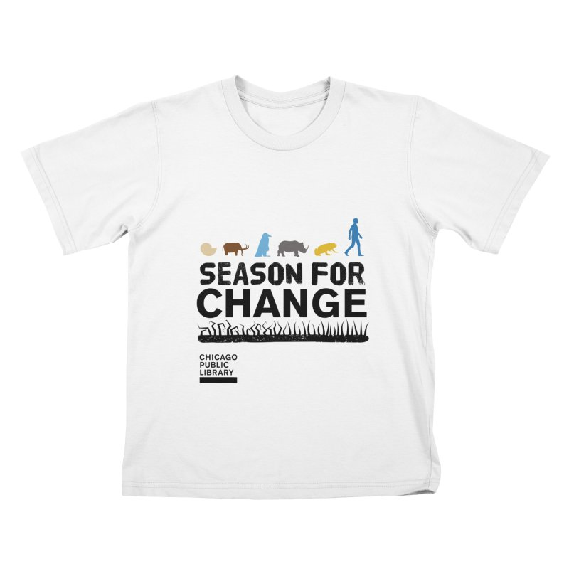 One Book, One Chicago 2019 Season of Change Black Kids T-Shirt by Chicago Public Library Artist Shop