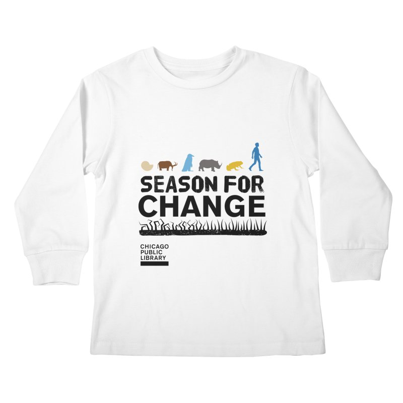 One Book, One Chicago 2019 Season of Change Black Kids Longsleeve T-Shirt by Chicago Public Library Artist Shop