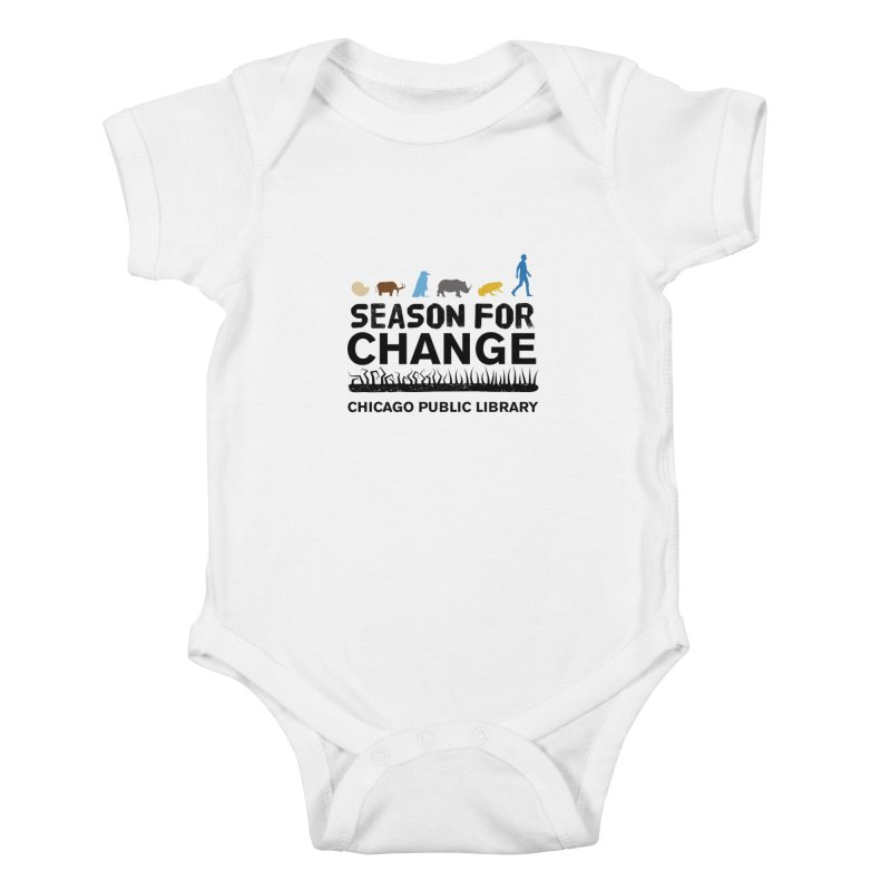 One Book, One Chicago 2019 Season of Change Black Text Kids Baby Bodysuit by Chicago Public Library Artist Shop
