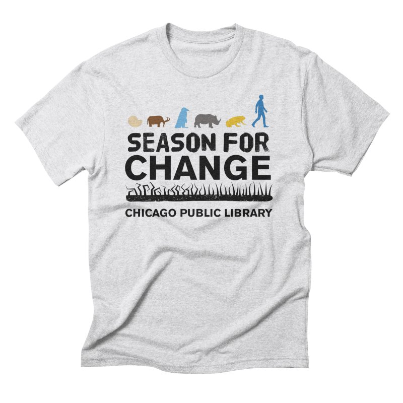 One Book, One Chicago 2019 Season of Change Black Text Men's T-Shirt by Chicago Public Library Artist Shop