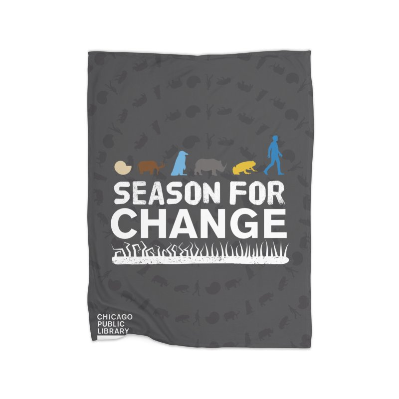 One Book, One Chicago 2019 Season of Change White Home Fleece Blanket Blanket by Chicago Public Library Artist Shop