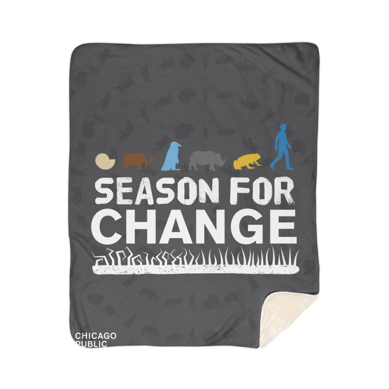 One Book, One Chicago 2019 Season of Change White Home Sherpa Blanket Blanket by Chicago Public Library Artist Shop