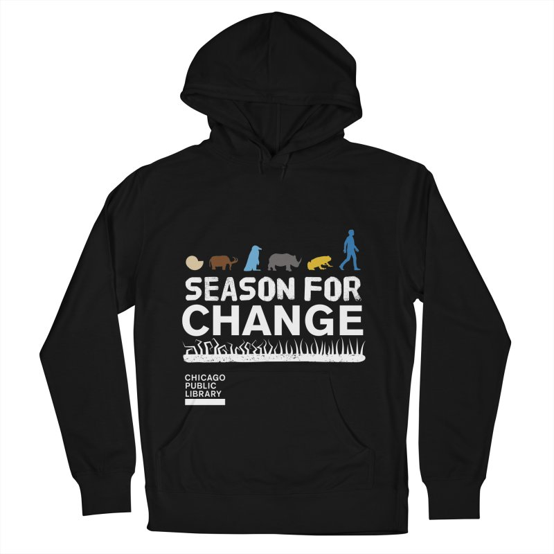 One Book, One Chicago 2019 Season of Change White Men's French Terry Pullover Hoody by Chicago Public Library Artist Shop