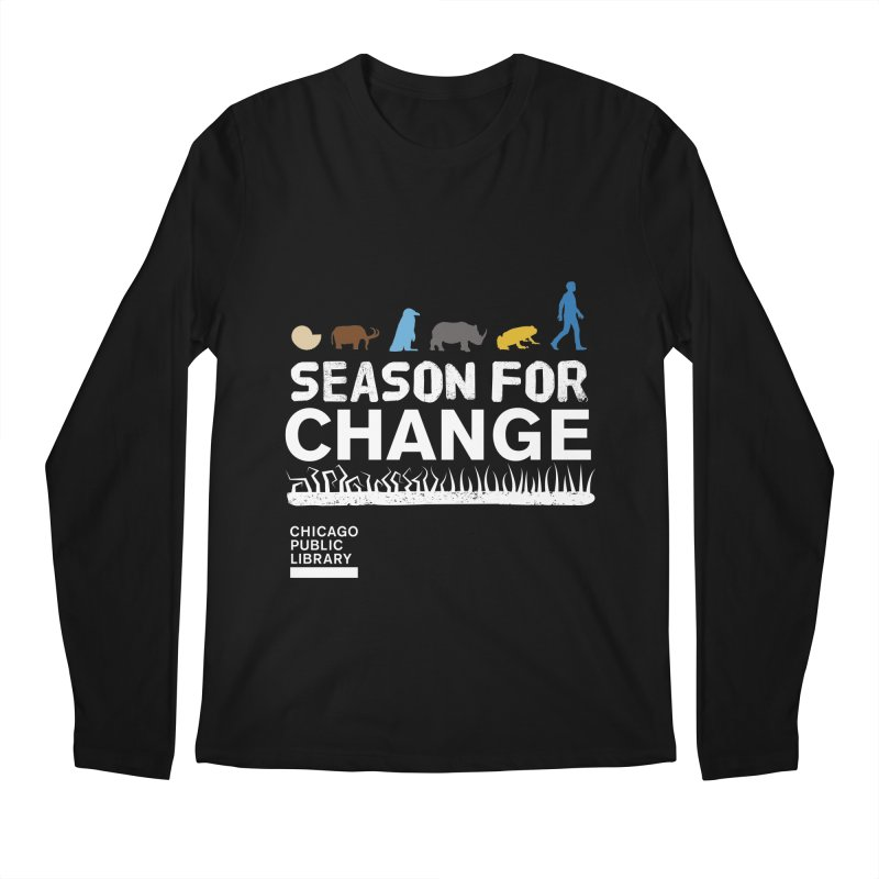 One Book, One Chicago 2019 Season of Change White Men's Regular Longsleeve T-Shirt by Chicago Public Library Artist Shop