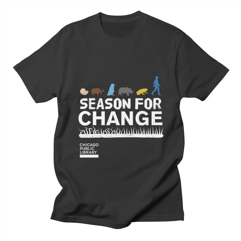 One Book, One Chicago 2019 Season of Change White Men's Regular T-Shirt by Chicago Public Library Artist Shop