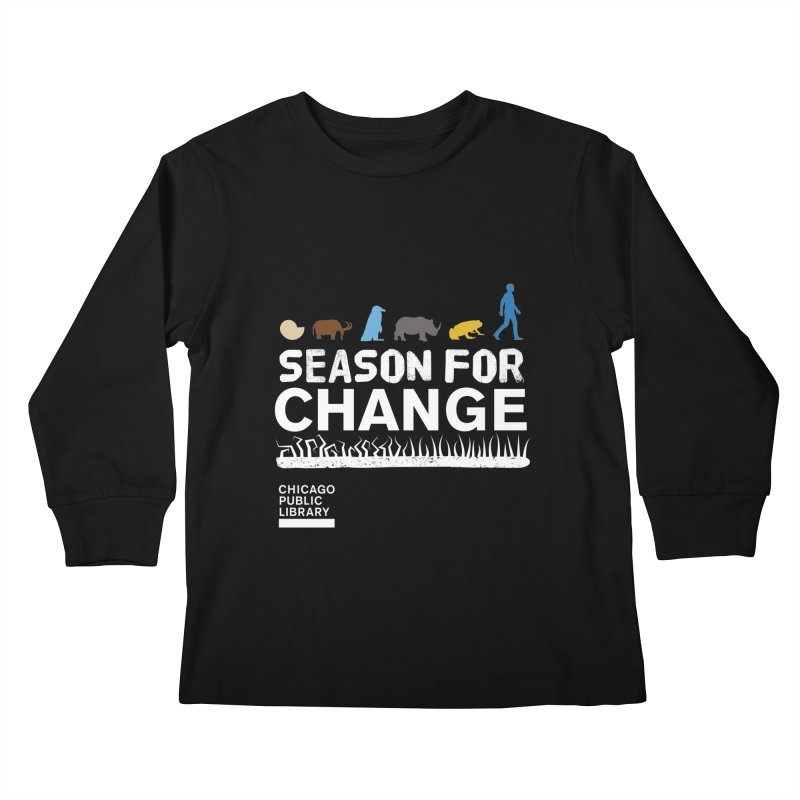 One Book, One Chicago 2019 Season of Change White Kids Longsleeve T-Shirt by Chicago Public Library Artist Shop