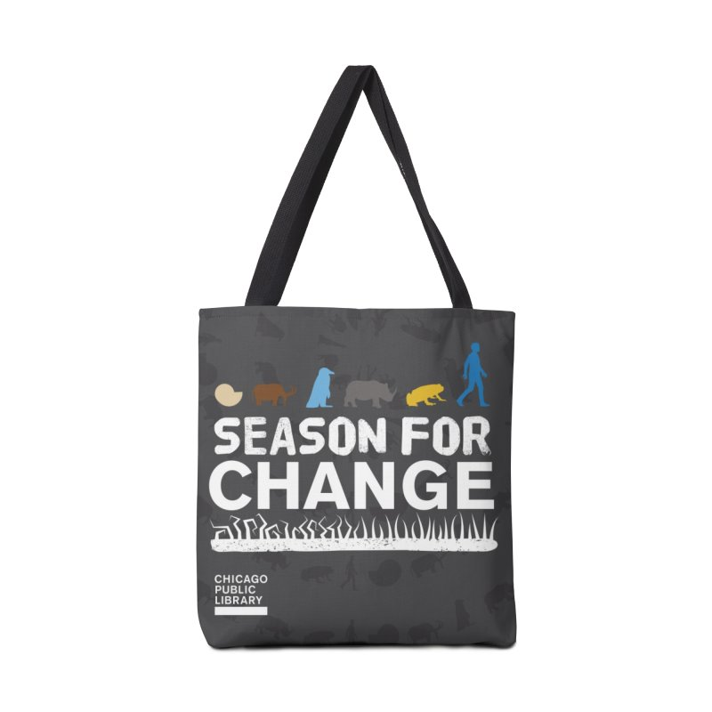 One Book, One Chicago 2019 Season of Change White Accessories Tote Bag Bag by Chicago Public Library Artist Shop