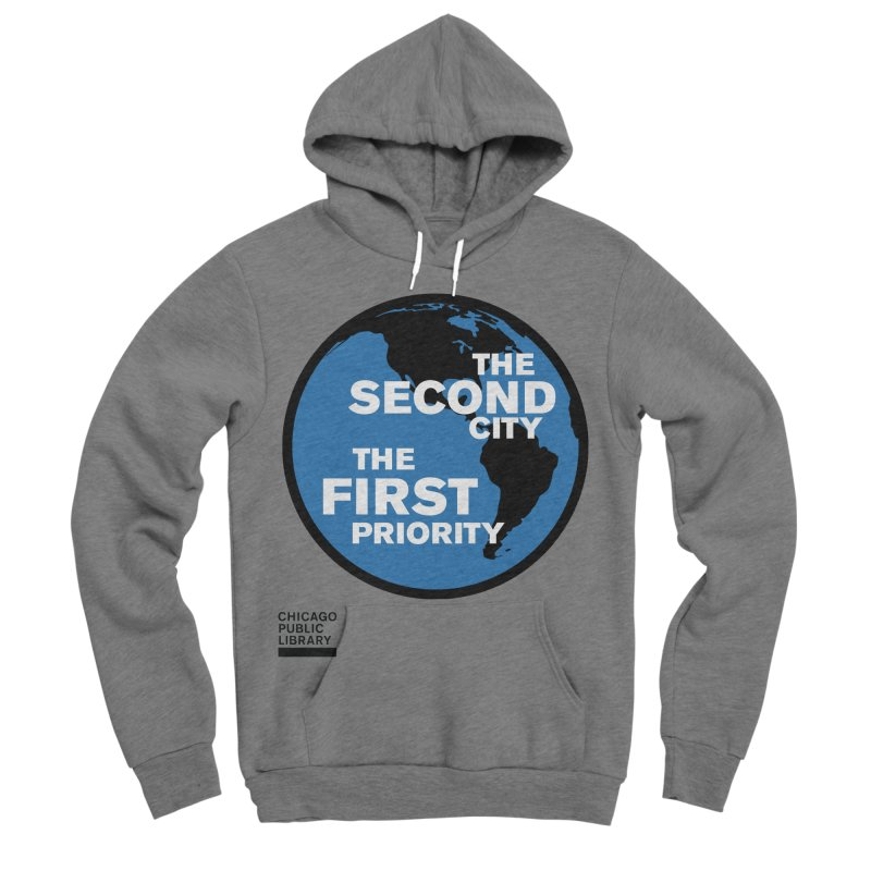 One Book, One Chicago 2019 Second City Black Men's Sponge Fleece Pullover Hoody by Chicago Public Library Artist Shop