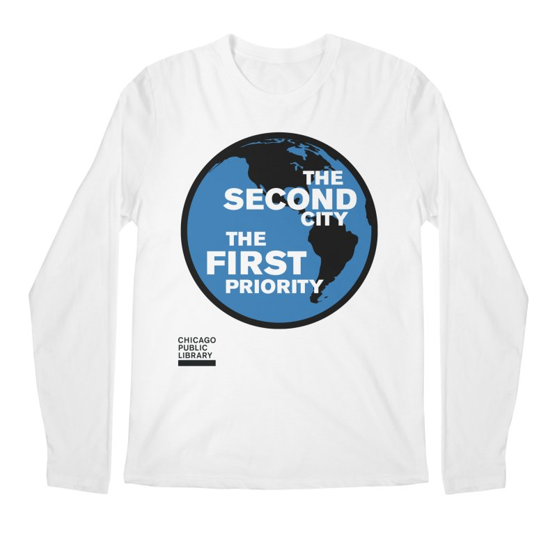 One Book, One Chicago 2019 Second City Black Men's Regular Longsleeve T-Shirt by Chicago Public Library Artist Shop
