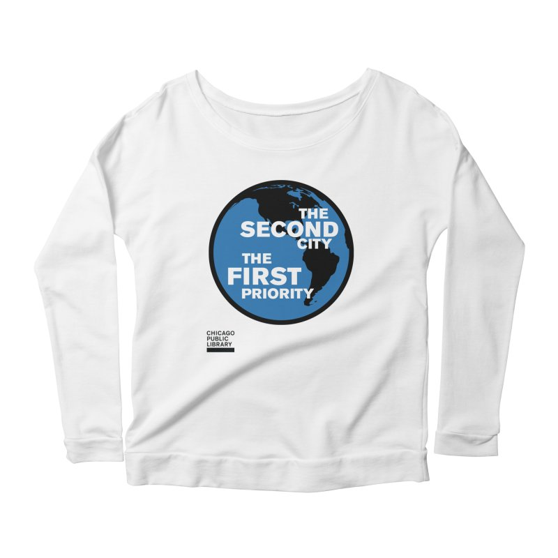 One Book, One Chicago 2019 Second City Black Women's Scoop Neck Longsleeve T-Shirt by Chicago Public Library Artist Shop