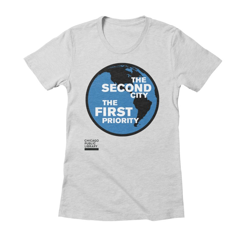One Book, One Chicago 2019 Second City Black Women's Fitted T-Shirt by Chicago Public Library Artist Shop