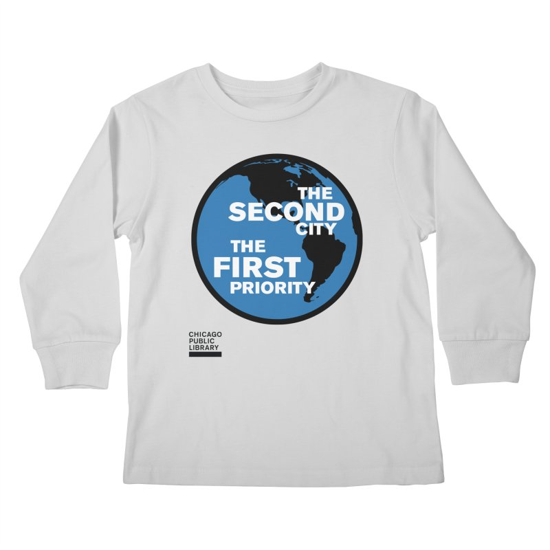 One Book, One Chicago 2019 Second City Black Kids Longsleeve T-Shirt by Chicago Public Library Artist Shop