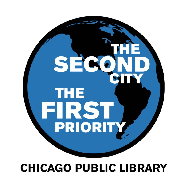 One Book, One Chicago 2019 Second City Black Text by Chicago Public Library Artist Shop