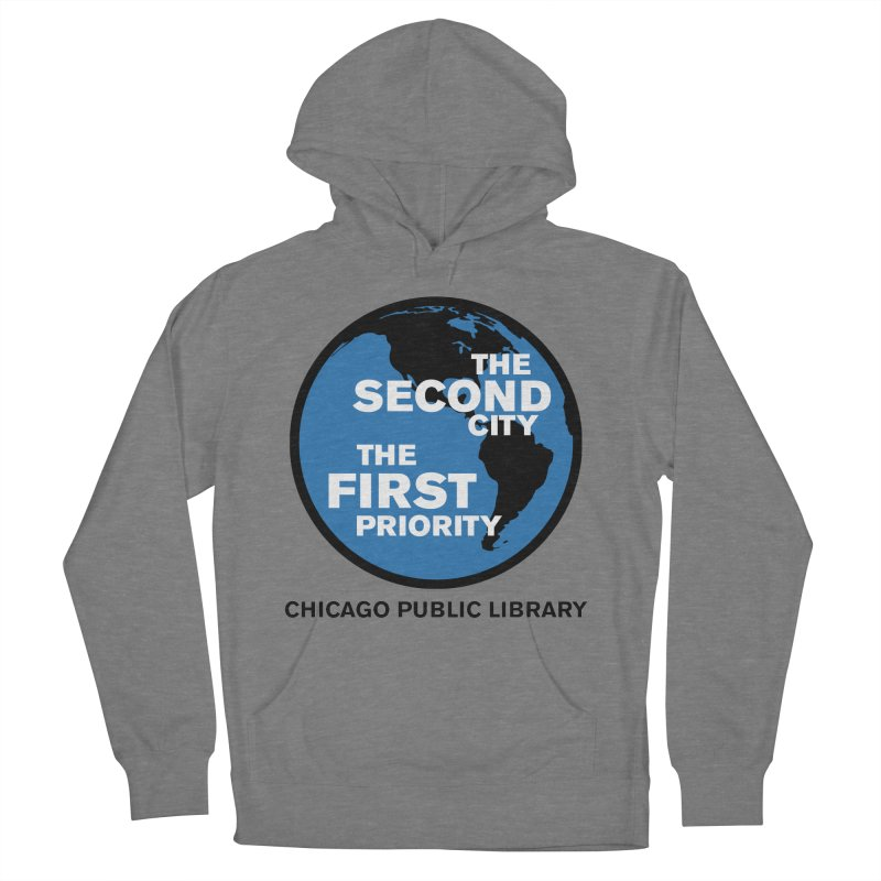 One Book, One Chicago 2019 Second City Black Text Women's French Terry Pullover Hoody by Chicago Public Library Artist Shop