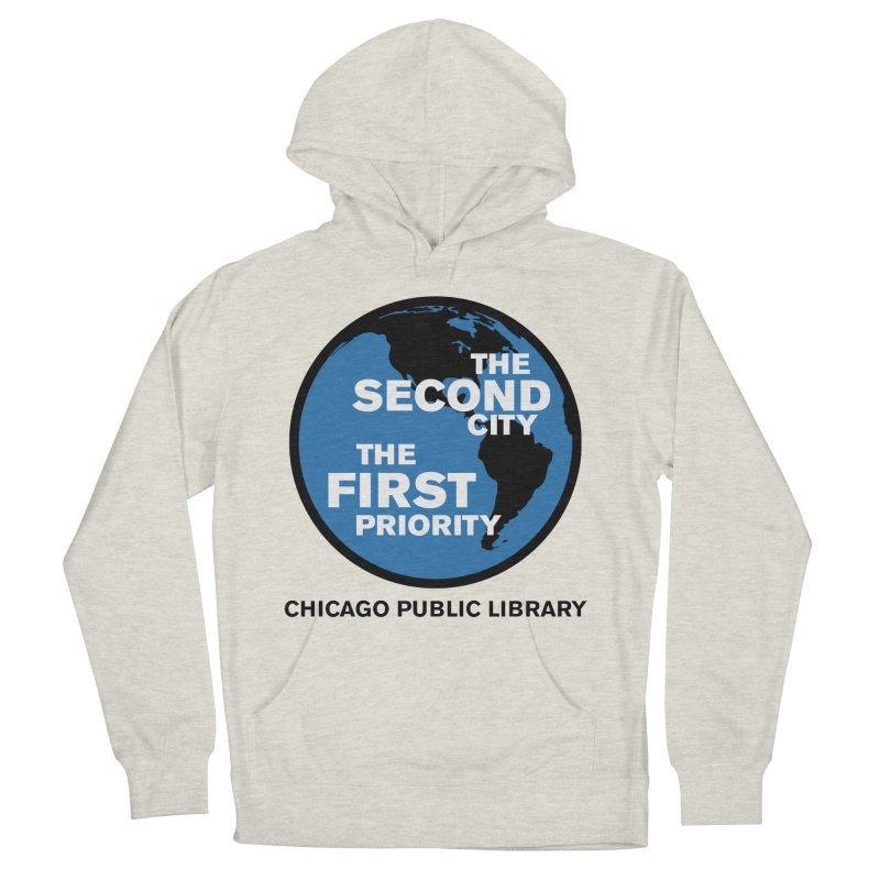 One Book, One Chicago 2019 Second City Black Text Men's French Terry Pullover Hoody by Chicago Public Library Artist Shop