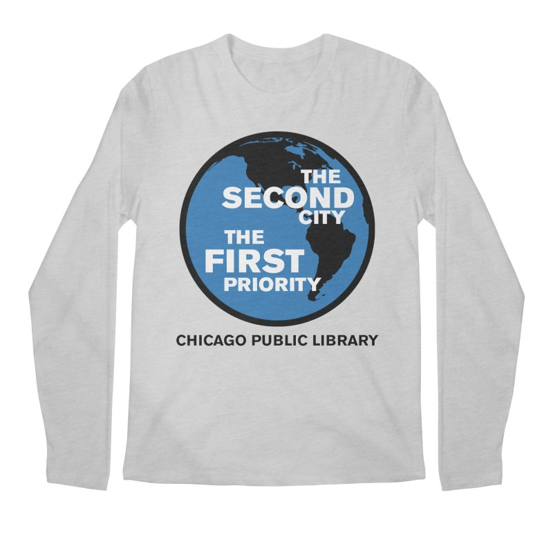 One Book, One Chicago 2019 Second City Black Text Men's Regular Longsleeve T-Shirt by Chicago Public Library Artist Shop