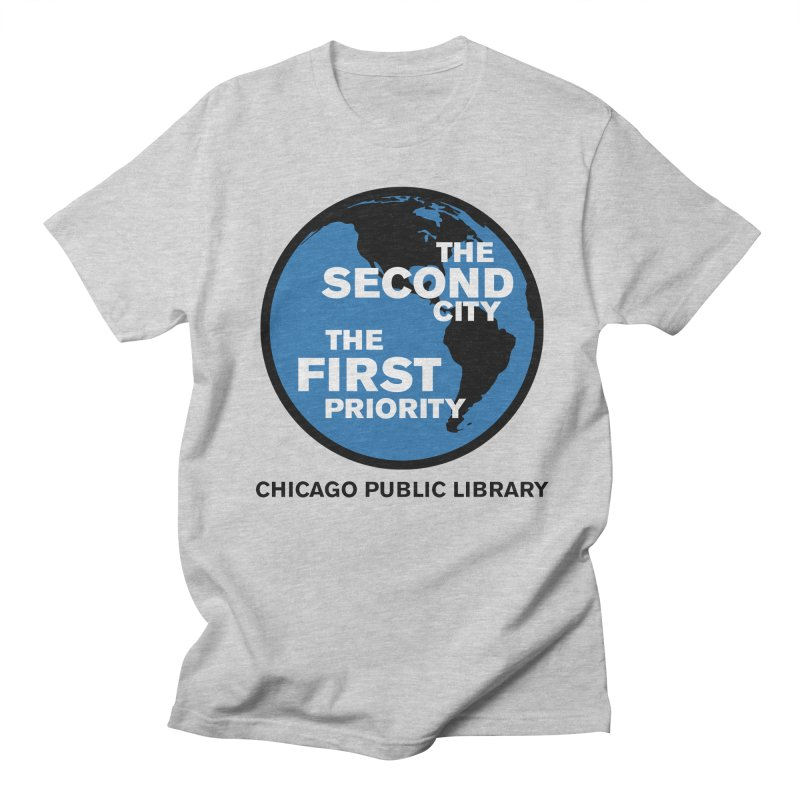 One Book, One Chicago 2019 Second City Black Text Men's Regular T-Shirt by Chicago Public Library Artist Shop