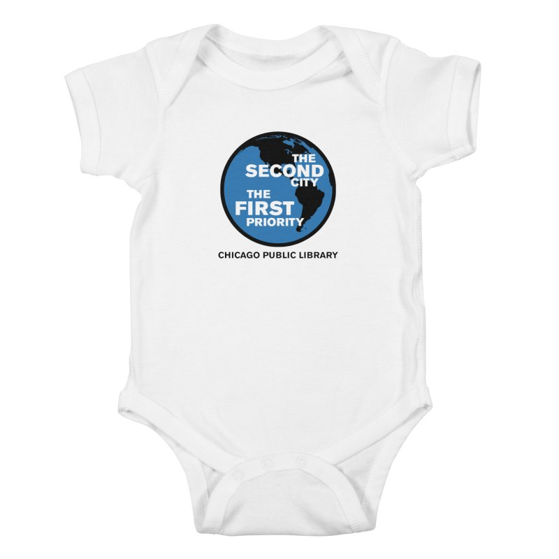 One Book, One Chicago 2019 Second City Black Text Kids Baby Bodysuit by Chicago Public Library Artist Shop
