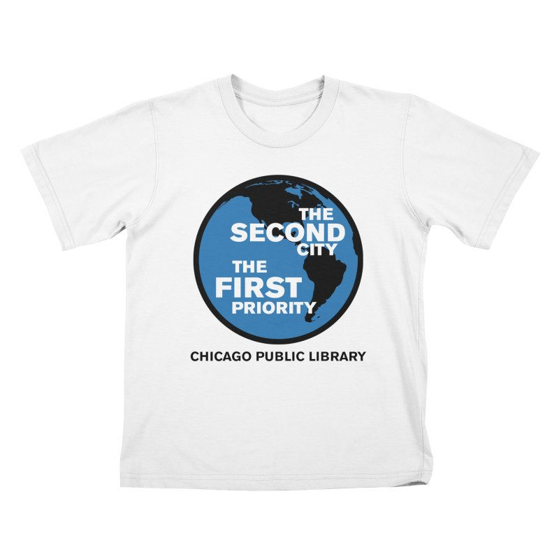 One Book, One Chicago 2019 Second City Black Text Kids T-Shirt by Chicago Public Library Artist Shop