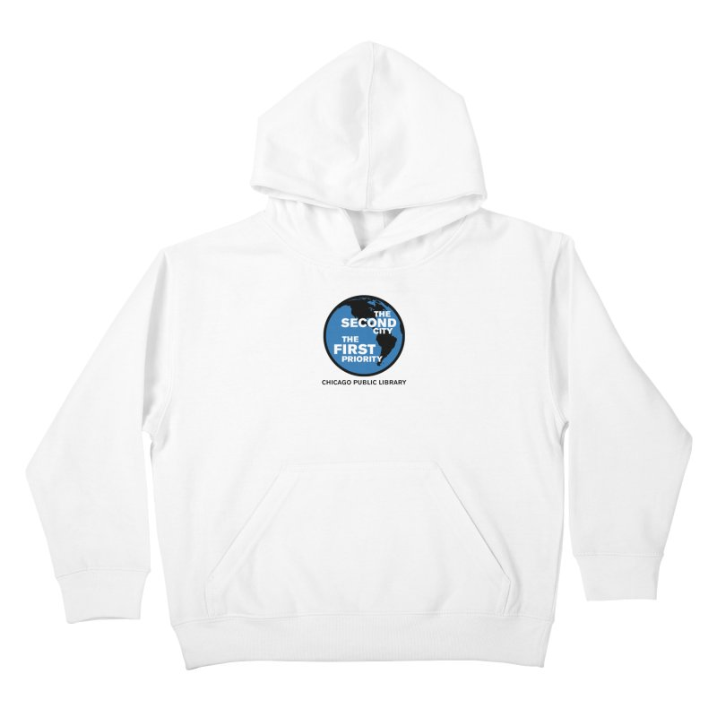 One Book, One Chicago 2019 Second City Black Text Kids Pullover Hoody by Chicago Public Library Artist Shop