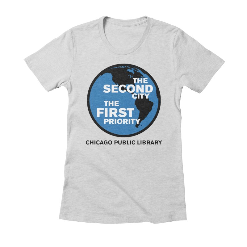 One Book, One Chicago 2019 Second City Black Text Women's Fitted T-Shirt by Chicago Public Library Artist Shop