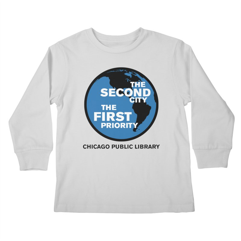 One Book, One Chicago 2019 Second City Black Text Kids Longsleeve T-Shirt by Chicago Public Library Artist Shop