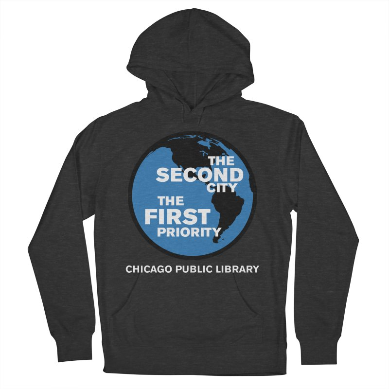 One Book, One Chicago 2019 Second City White Text Women's French Terry Pullover Hoody by Chicago Public Library Artist Shop