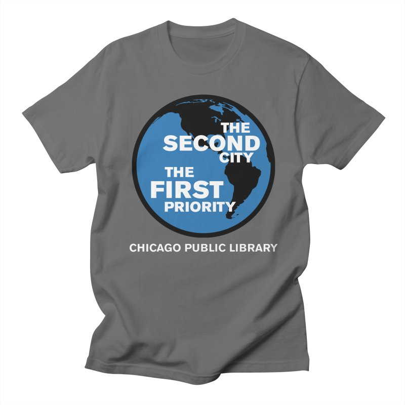 One Book, One Chicago 2019 Second City White Text Men's Regular T-Shirt by Chicago Public Library Artist Shop